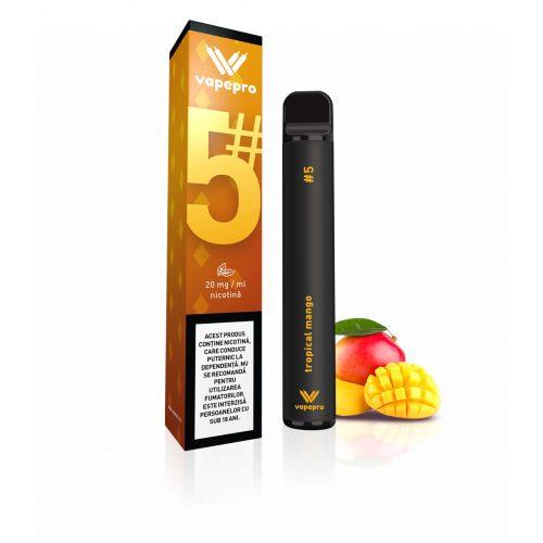 Kit Vapepro unica folosinta 800 pufuri - Tropical Mango #5